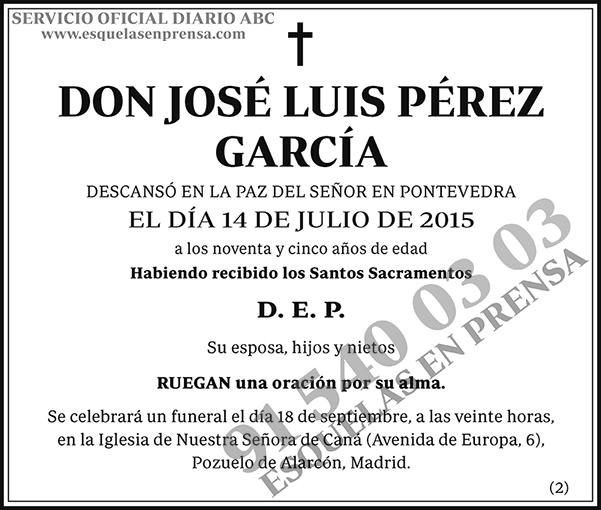 José Luis Pérez García